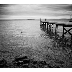 Озеро Гарда черно-белое