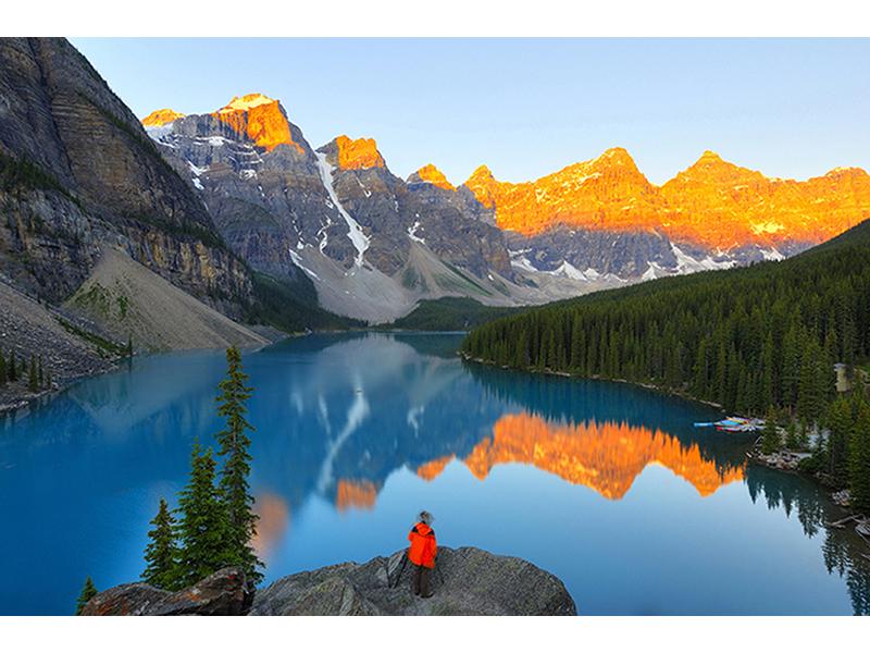 Озеро Морейн на рассвете 1416