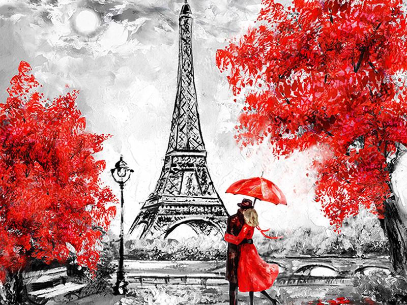 Пара под зонтиком 1345