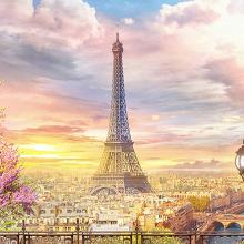 Париж на закате