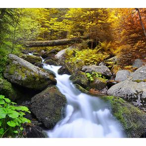 Водопад в парке Чехии