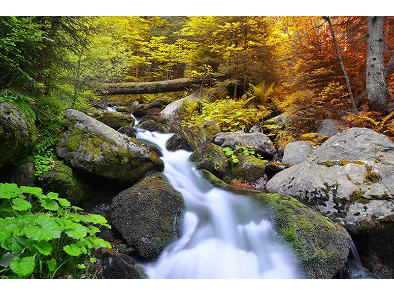 Водопад в парке Чехии 1328