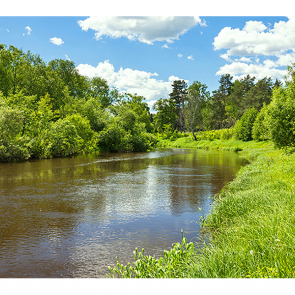 Фотообои пейзаж на реке