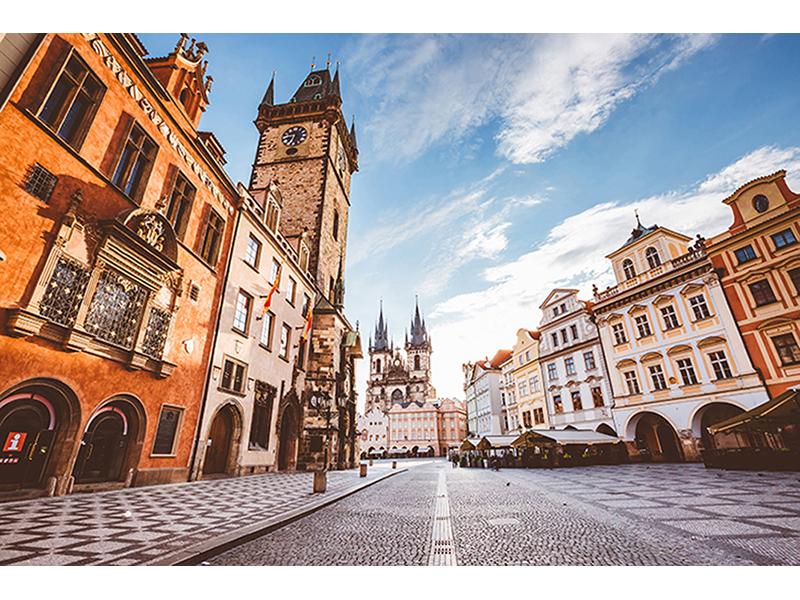 Площадь в Праге 1300