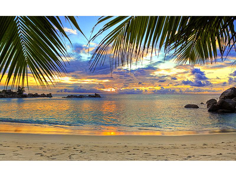 Пляж на закате 2545