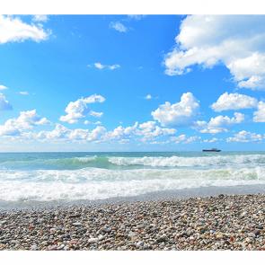 Пляж с галькой
