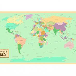 Политическая карта мира в рамке