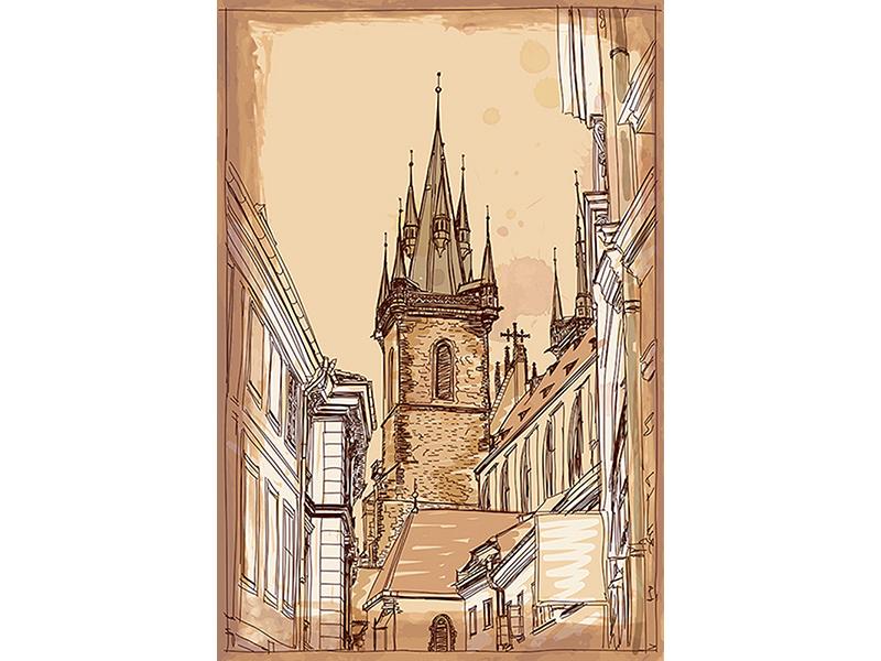 Прага в векторах 1279