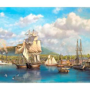 Пристань с кораблями