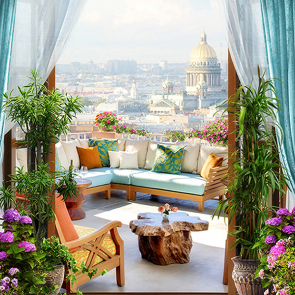Римский вид с балкона