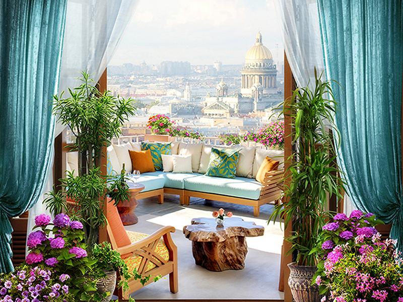 Римский вид с балкона 1240