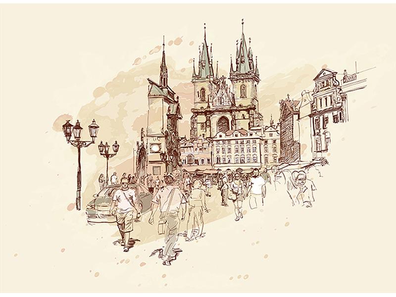 Рисованная Прага 1239