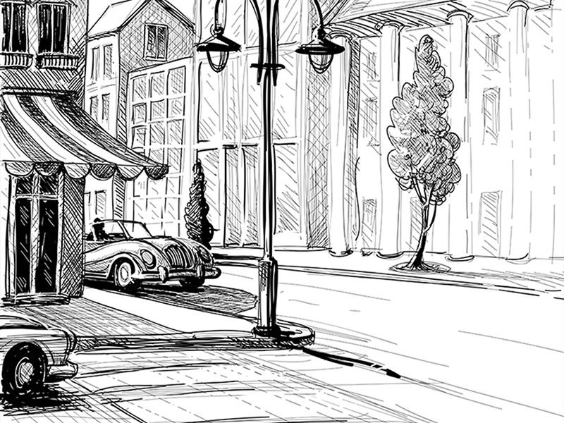 Рисованная улица 1238