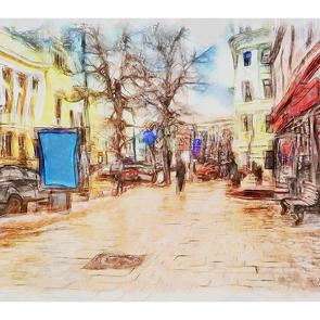 Рисованная улочка