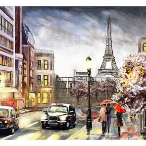 Фотообои рисованная улочка 4