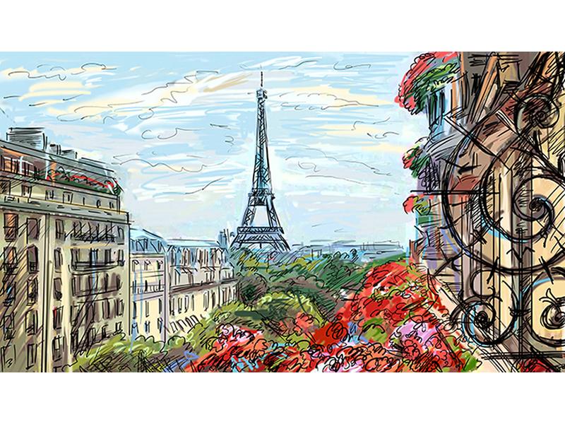 Рисованный Париж 2 1231
