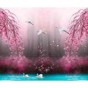 Розовые ивы