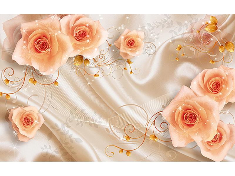 Розы на шелке 1219