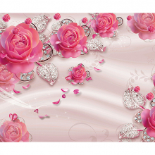 Розы с бриллиантами