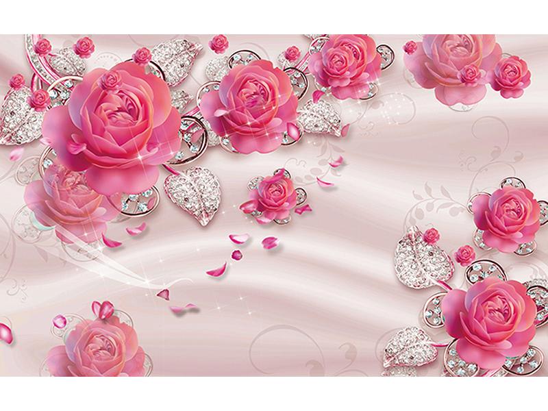 Розы с бриллиантами 1218