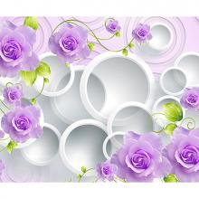 Фиолетовые розы с кругами