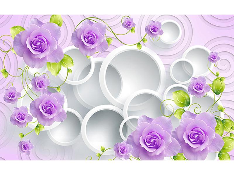 Фиолетовые розы с кругами 1217