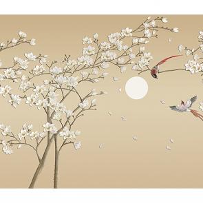 Сакура и птицы