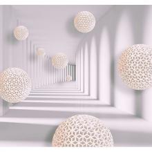 Сетчатые шары в туннеле