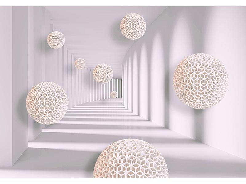 Сетчатые шары в туннеле 1012