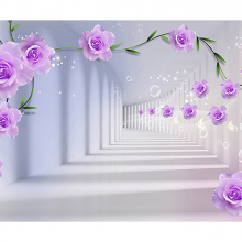 Сиреневые цветы в туннеле