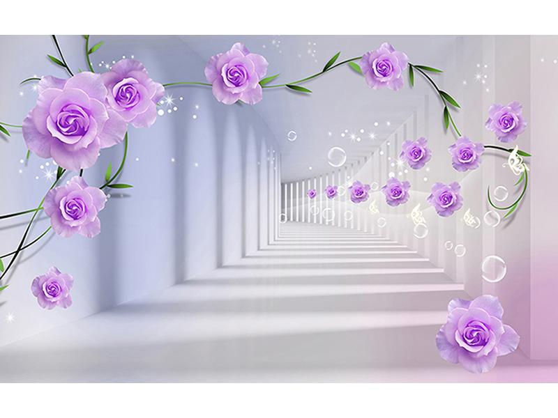 Сиреневые цветы в туннеле 1921