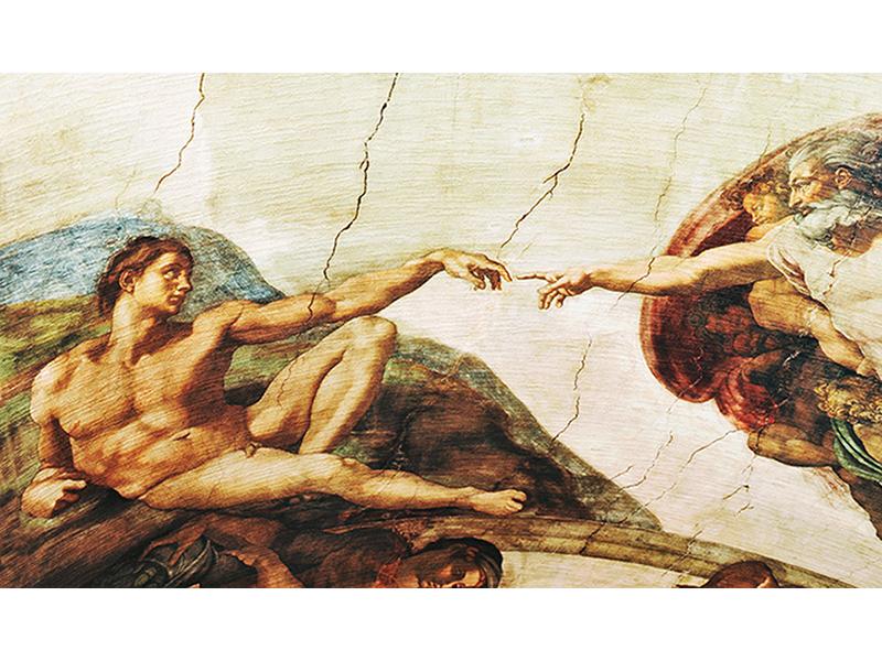 Старая фреска 2489