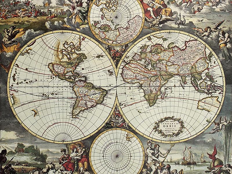 Старая карта мира 2346