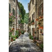 Старая улица маслом