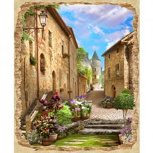 Старая улица в цветах