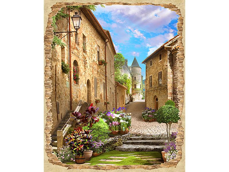 Старая улица в цветах 1148