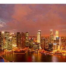 Сумерки в Сингапуре