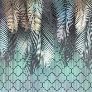 Тропическая нежность листья пальмы