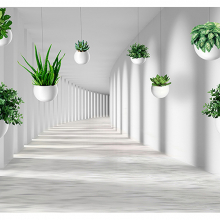 Туннель с вазонами