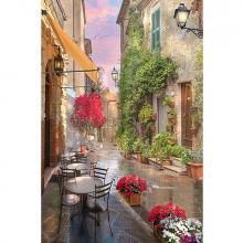 Улочка с кафе и цветами
