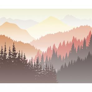 Векторный лес теплый