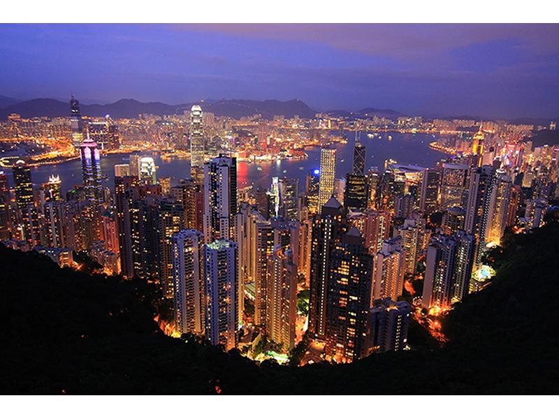Вид на Гонконг с горы 1884