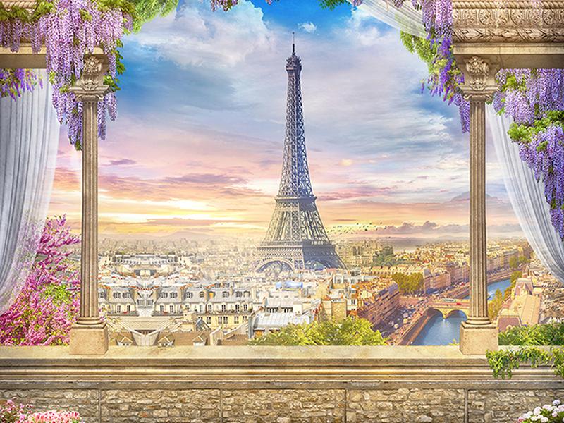 Вид на Париж 1871