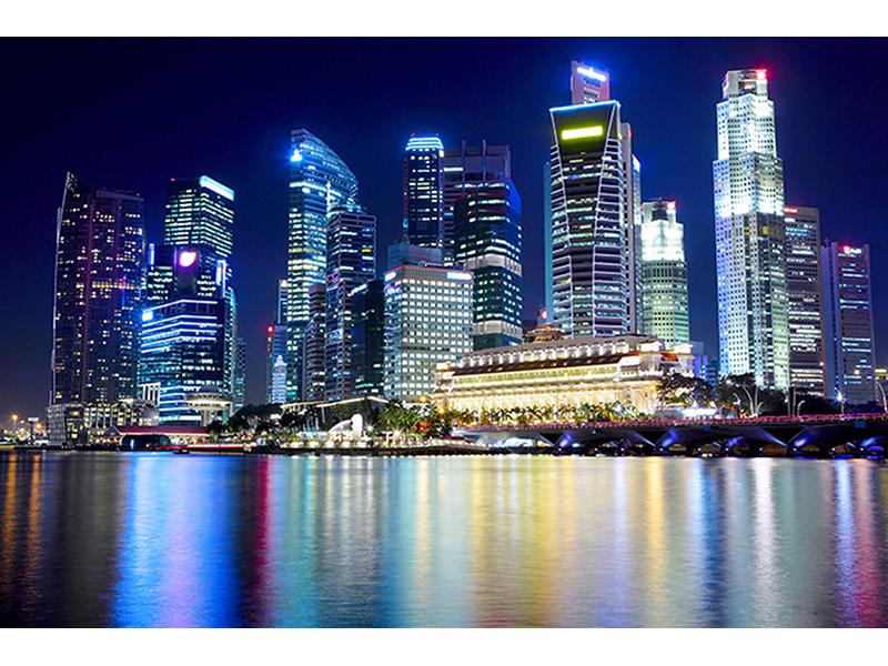 Вид на Сингапур 1869