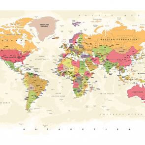 Карта мира винтажная