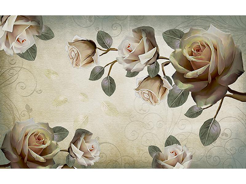 Винтажные розы 1863