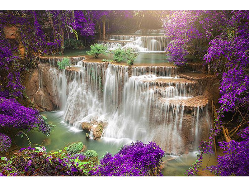 Водопад в китайском лесу 1860