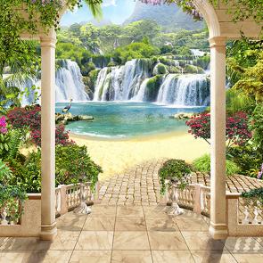 Водопад через арку