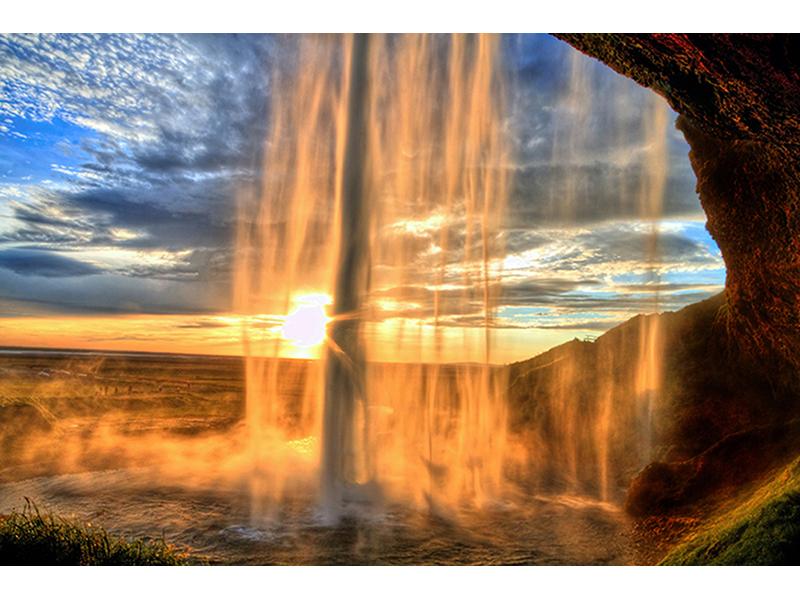 Водопад в Исландии 1856