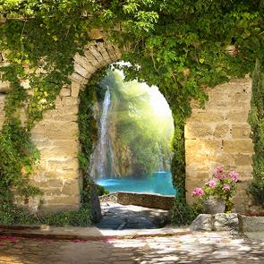 Водопад за аркоы